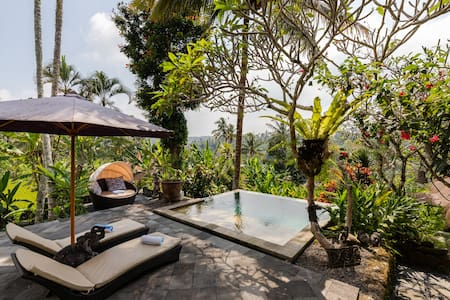 Luxurious private villa in lush Ubud countryside