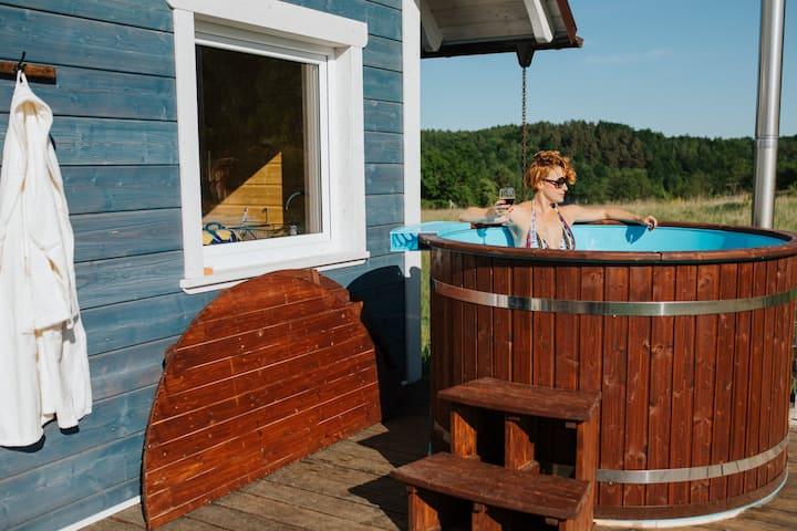 Czaplowisko - domki z sauną na Kaszubach