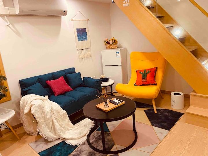 布丁居复式loft温馨浪漫小屋