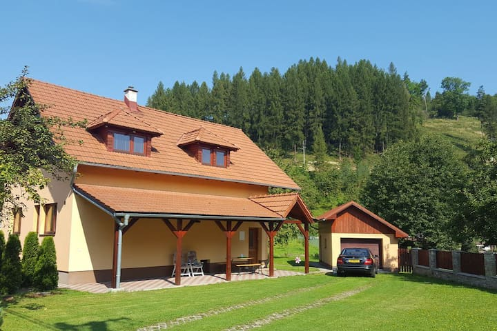 Villa Slovakia with sauna and fruit-garden