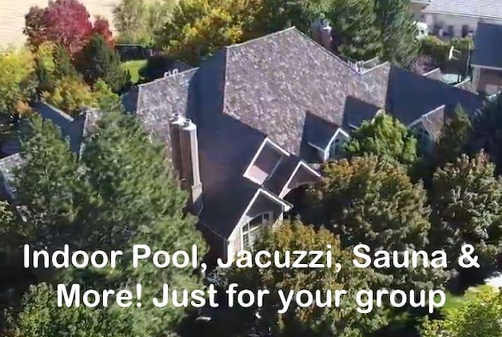 Private1.7Acre Ind.Pool, jacz,sauna,view 9500sqft!