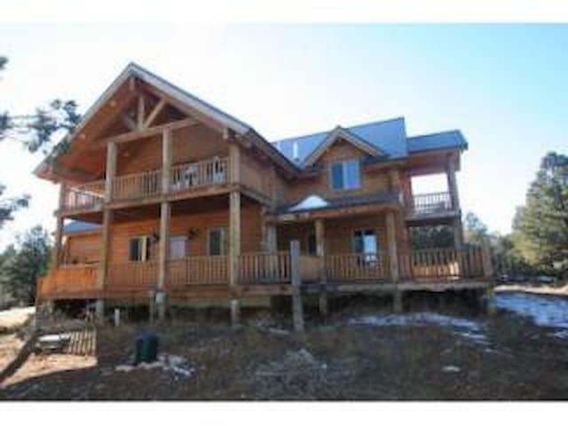 Spacious log cabin w/ beautiful wrap around decks