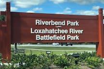 Jupiter Outdoor Center at Riverbend Park. A bike ride or a short drive away.