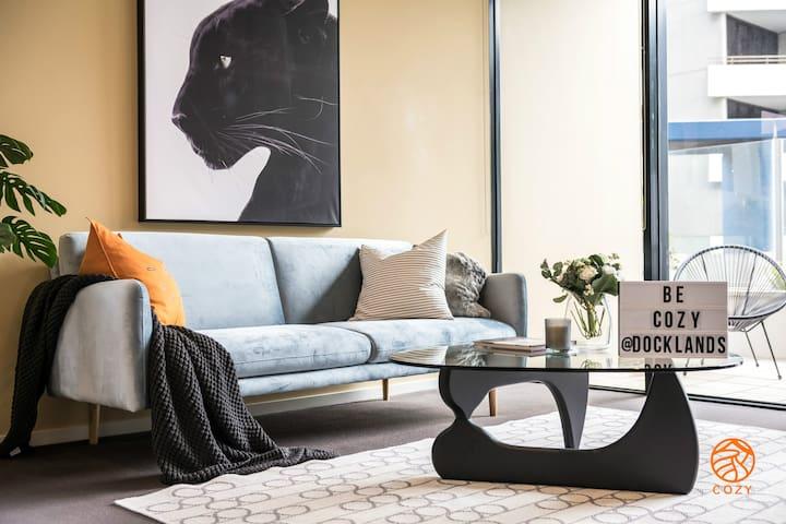 131-Cozy 1 bedroom apartment in Docklands@ Free parking