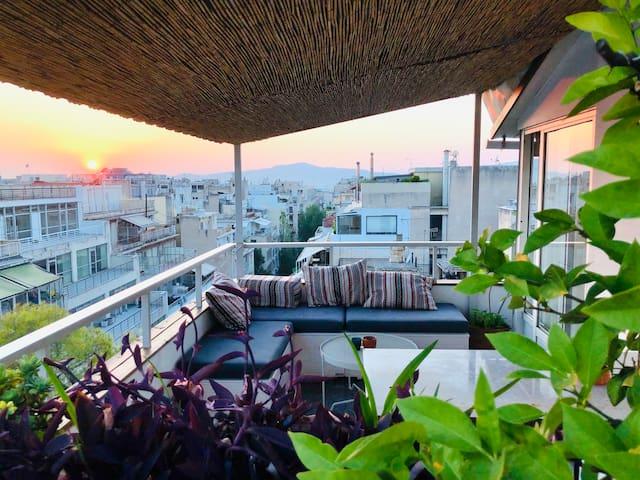 Minimalist Studio with Acropolis view