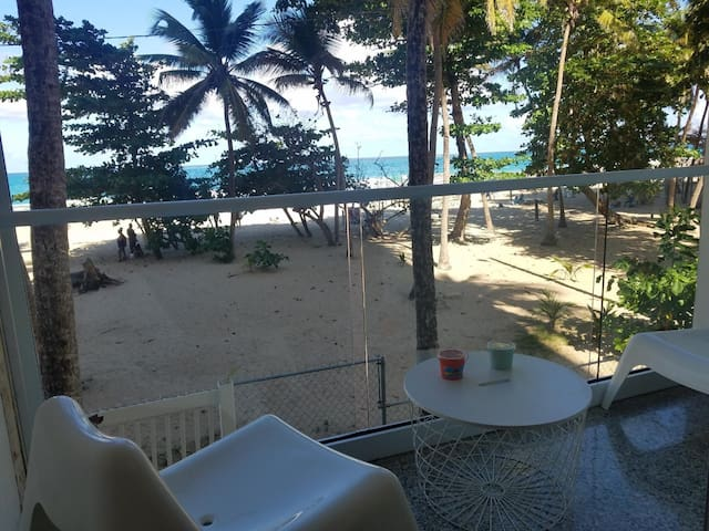 Beach front balcony! Also shutter roll ups new installed