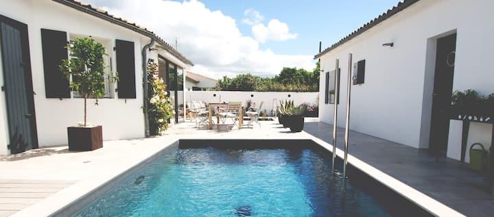 Maison d'Hôtes avec piscine. Chambre L'Olivier