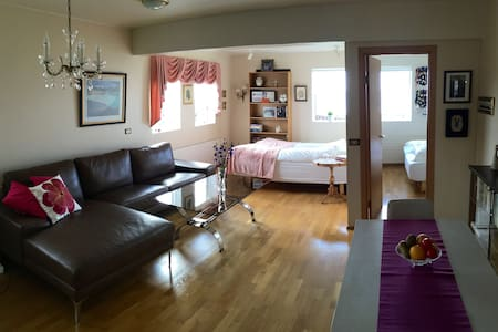 Nice apartment with a beautiful ocean view. - Akranes