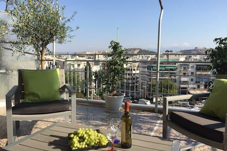 Unique view terrace big apartment in center - Apartment