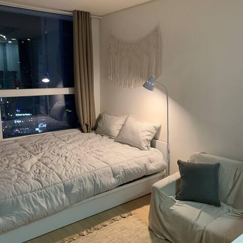 완전한 암막, 아늑한 침실  Complete blackout, cozy bedroom