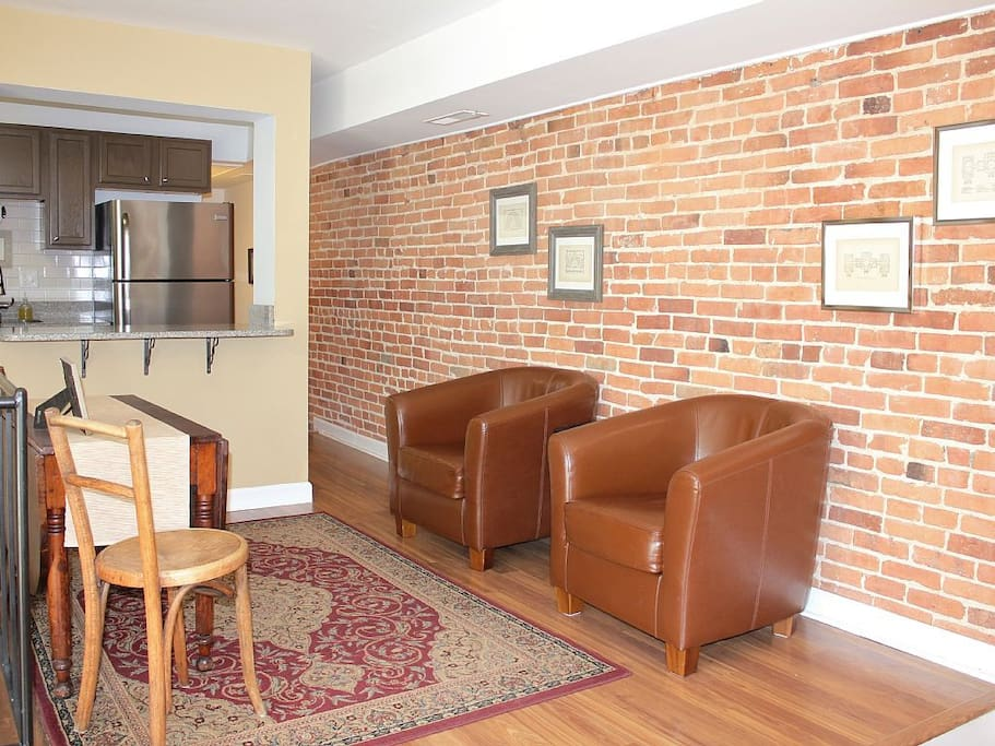 Perfect sitting area to plan your day's activities