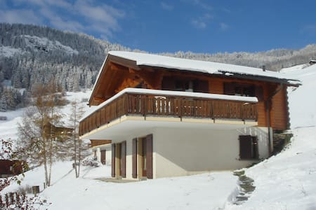 Chalet Hirondelle- silence and tranquillity - Levron - Chatka w górach