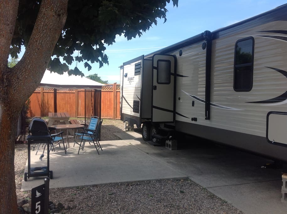 3rd, Outside view of our Trailer and Lot