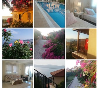Bodrum, Gulluk..romantic and clean sea view home.