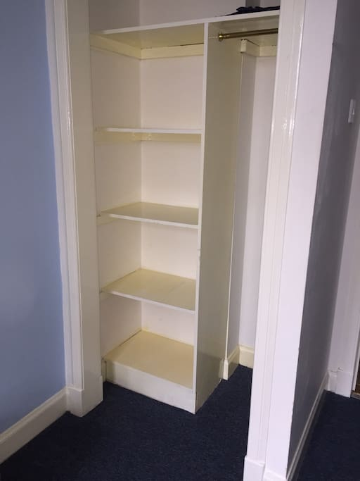 Cupboard space in double room