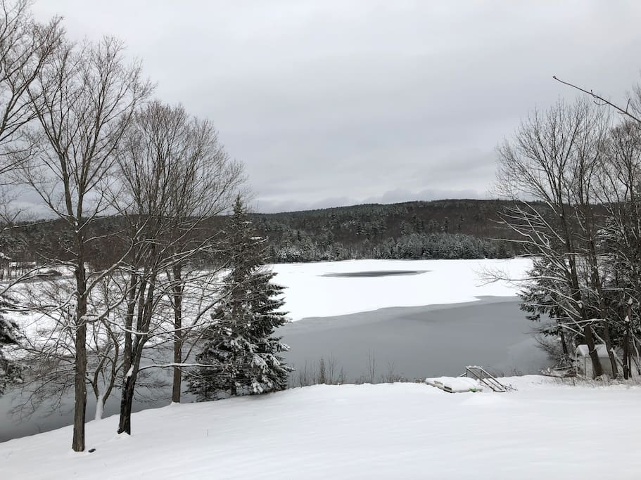 View of Silver Lake from Sun room