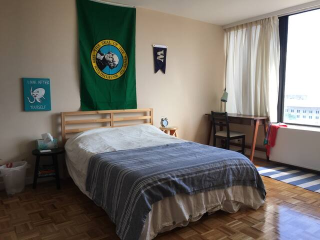 Spacious bedroom in Foggy Bottom - Washington - Wohnung