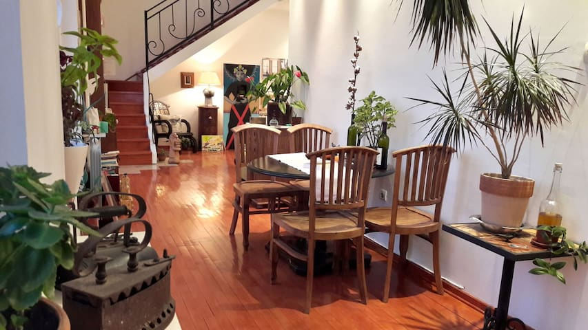 Dining room and a view to living room