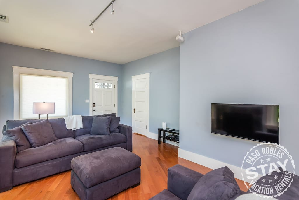 Comfortable Living Room with Large TV