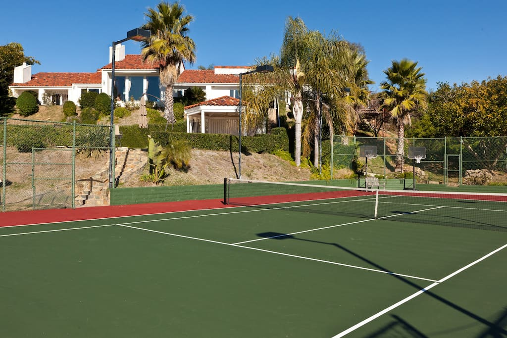 Tennis & Basketball Court with Bicycles & Tricycles