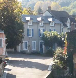 """""""Vue Rivière"""" - town centre on the Creuse river - Argenton-sur-Creuse"""