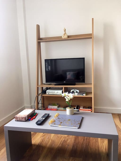 Entertainment; Includes TV, XBOX and books.