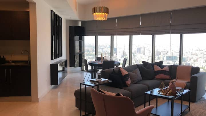 Super Luxury 1bdr Apt in heart of Amman boulevard