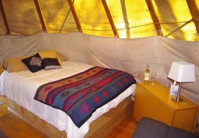 Tipi on 10 Acres in Wine Country
