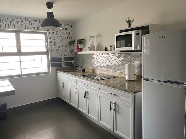 Brand new apartment, full bed, kitchen, sofa 3-1