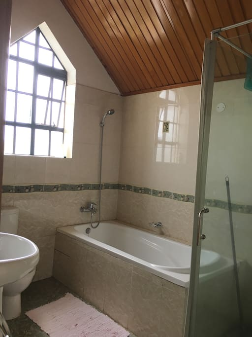 fully heated ensuite with separate shower