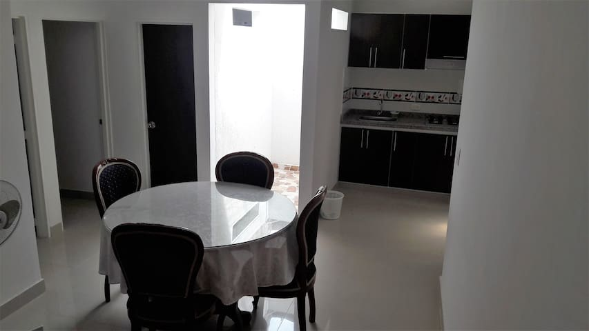 apartment for two or three people