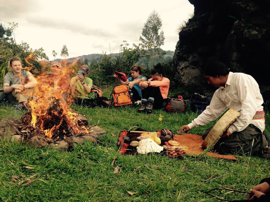Ceremonia de Solsticio, Compartir las enseñanzas ancestrales.