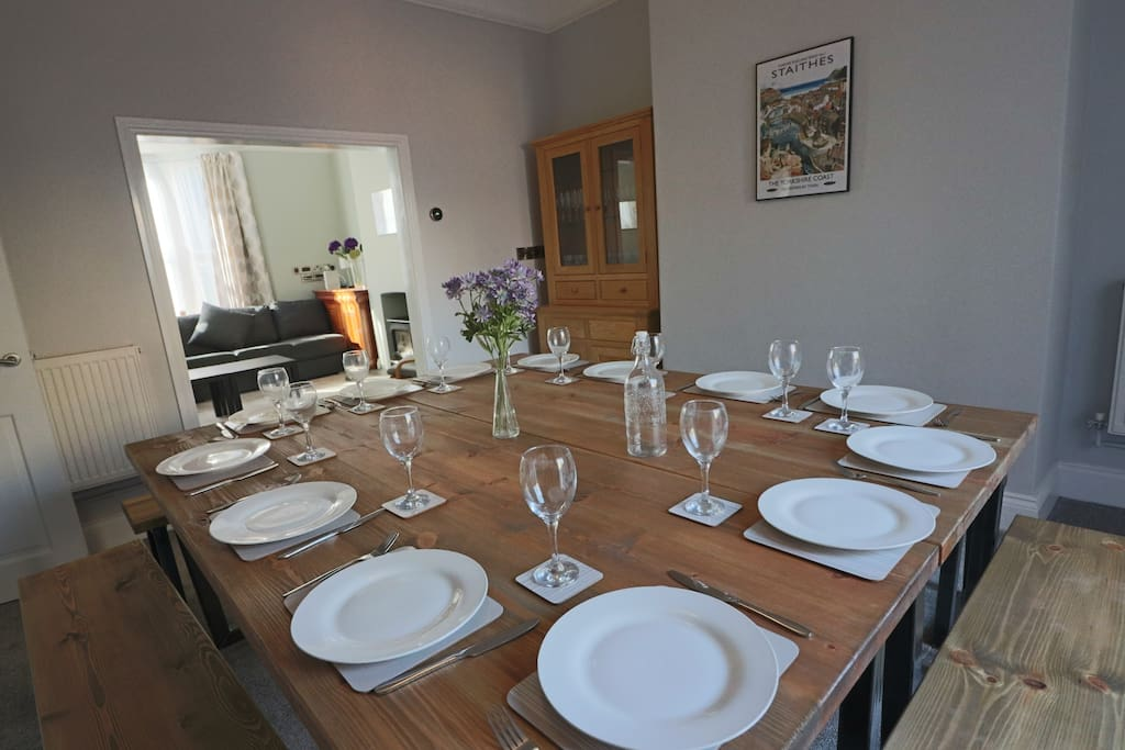 Dining table to seat 16 - can be configured together or separately