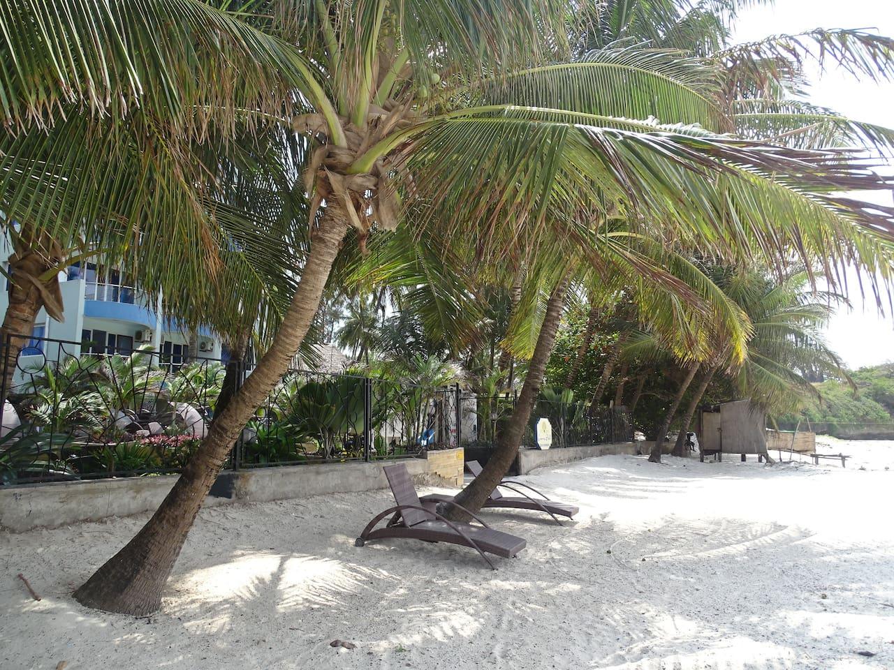 Serene beach location