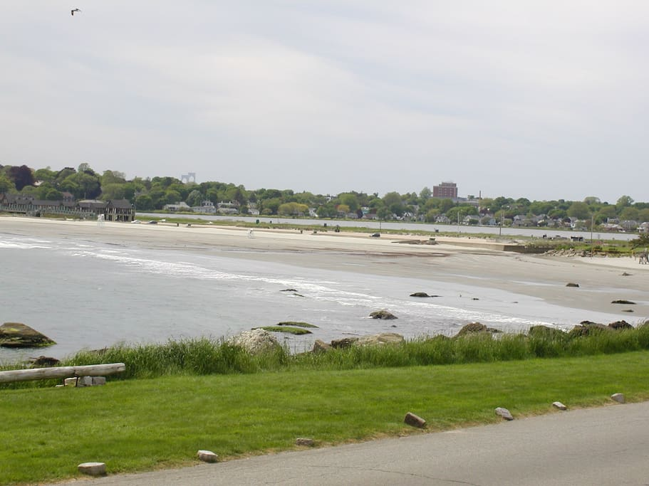 Easton's Beach is just steps away!