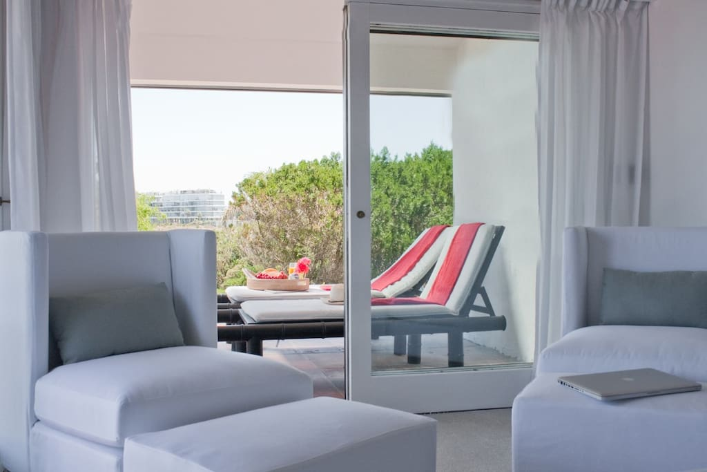 Private terrace on this room