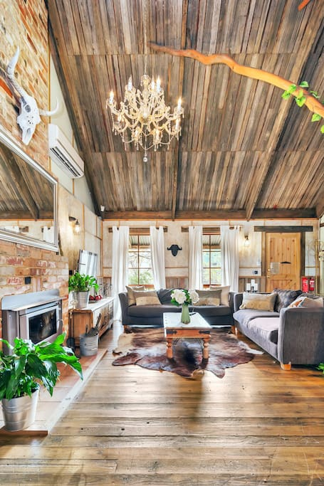 How amazing is the ceiling and openness of the living room