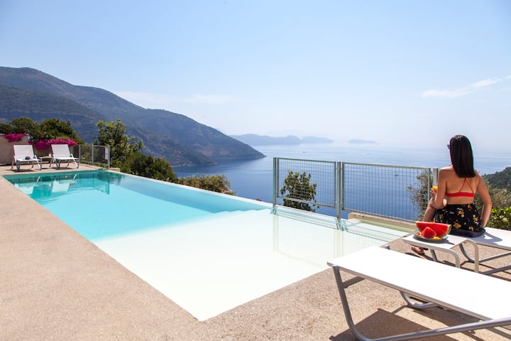 CaveStyle Villa Oceanos With Infinity Pool & Views