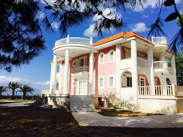 Beachfront Villa, Peloponnese near Athens, Greece