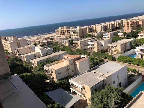 Vue panoramique sur la mer Shahrazad Beach Appartement
