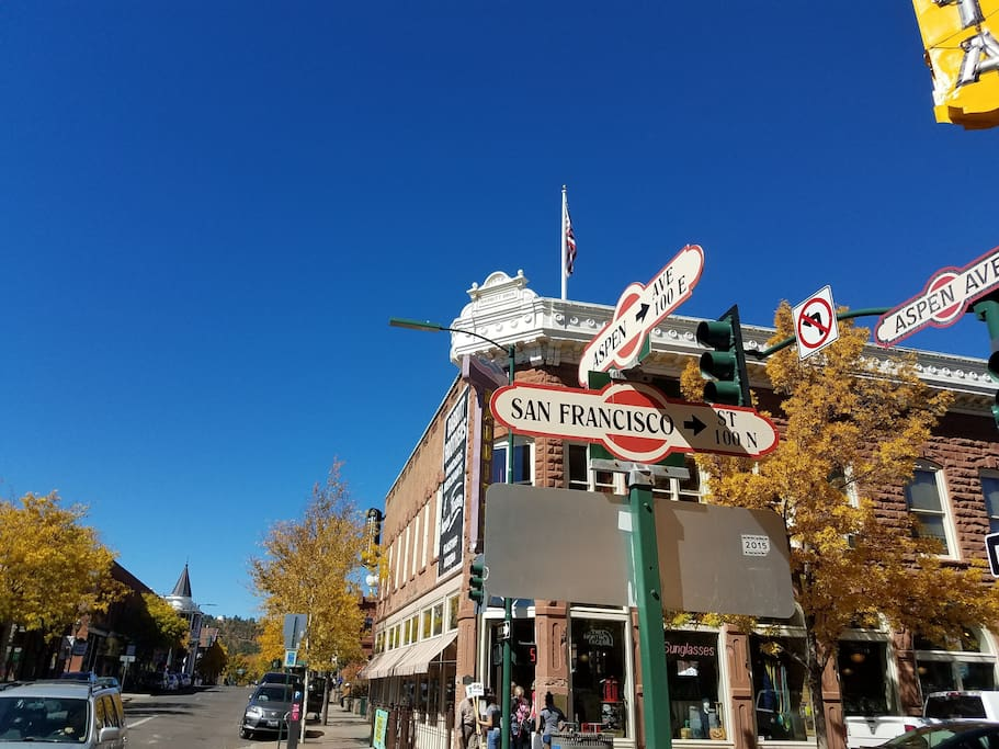 The heart of downtown Flagstaff