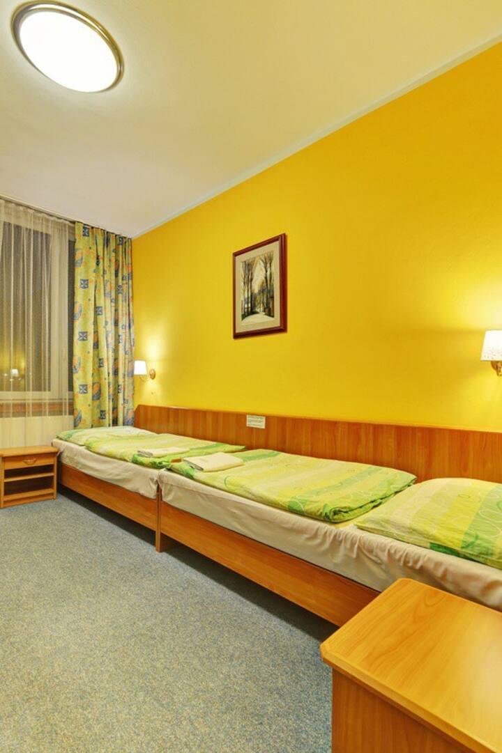 Jednolůžkový pokoj v hotelu Slunce