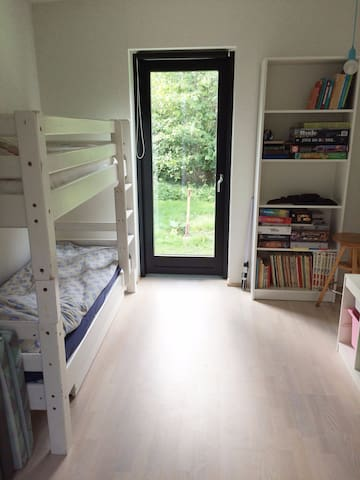 Room with bunk beds