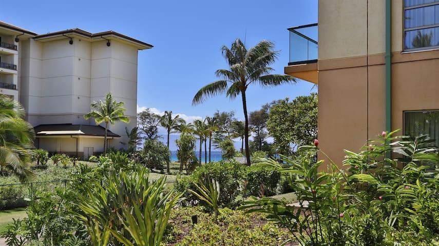 Maui Westside Properties - Hokulani 108 Ground Floor 1 Bed with Huge Play lawn!