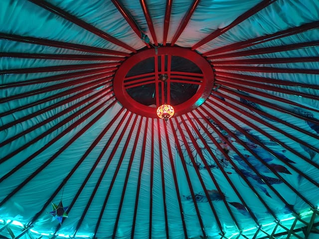 """MAGIC YURT"" by sea()+firepit +wifi"