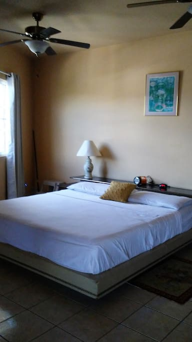 Comfortable King Size Bed in AC room