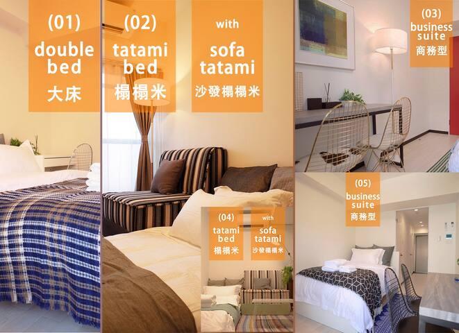 Nanba apt. 5 suites YOU CAN PICK bath+kitchen+WiFi - Naniwa-ku, Ōsaka-shi - Byt