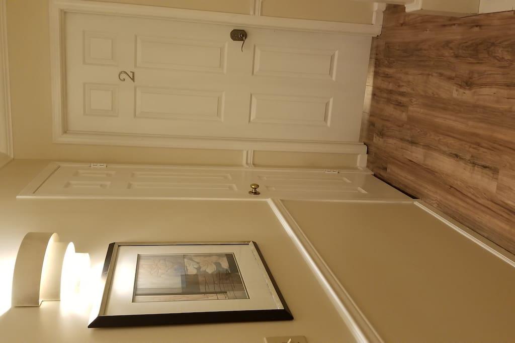 Digitally locked entrance (Suite 2)