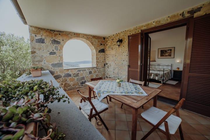 Pisciotta - Bilocale con vista - 4 min dal mare