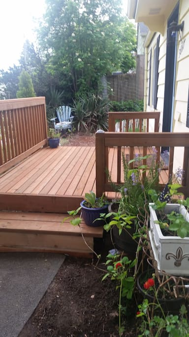 Welcome patio!